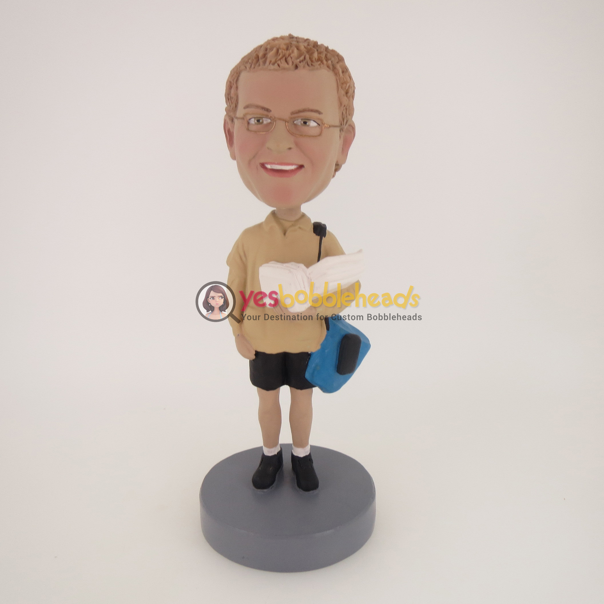 Picture of Custom Bobblehead Doll: Casual Man Going Out