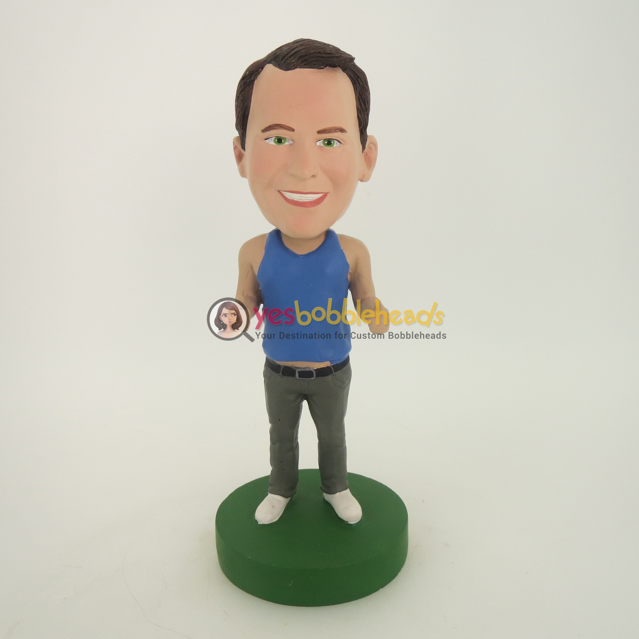 Picture of Custom Bobblehead Doll: Casual Man In Blue Vest