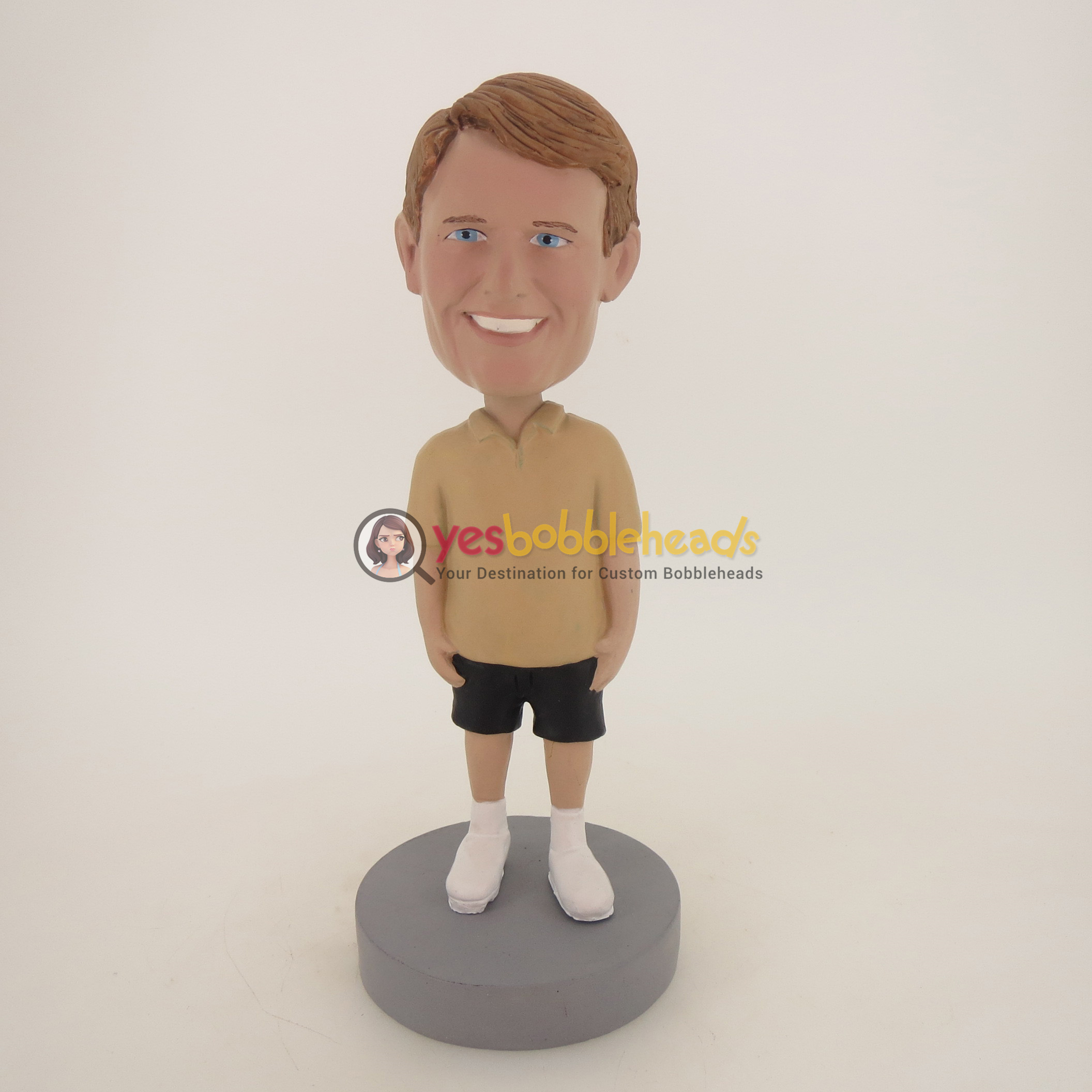 Picture of Custom Bobblehead Doll: Casual Man In Brown