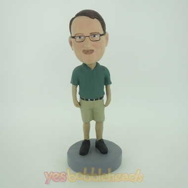 Picture of Custom Bobblehead Doll: Casual Man In Dark Green