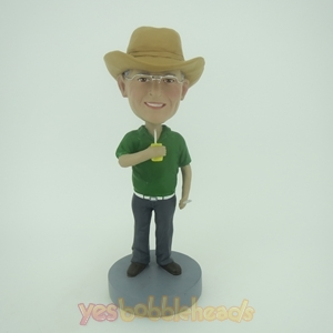 Picture of Custom Bobblehead Doll: Casual Man in Green