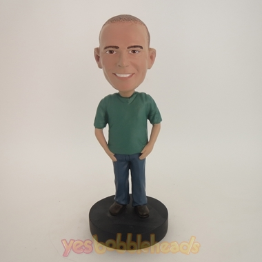 Picture of Custom Bobblehead Doll: Casual Man In Neat Clothing