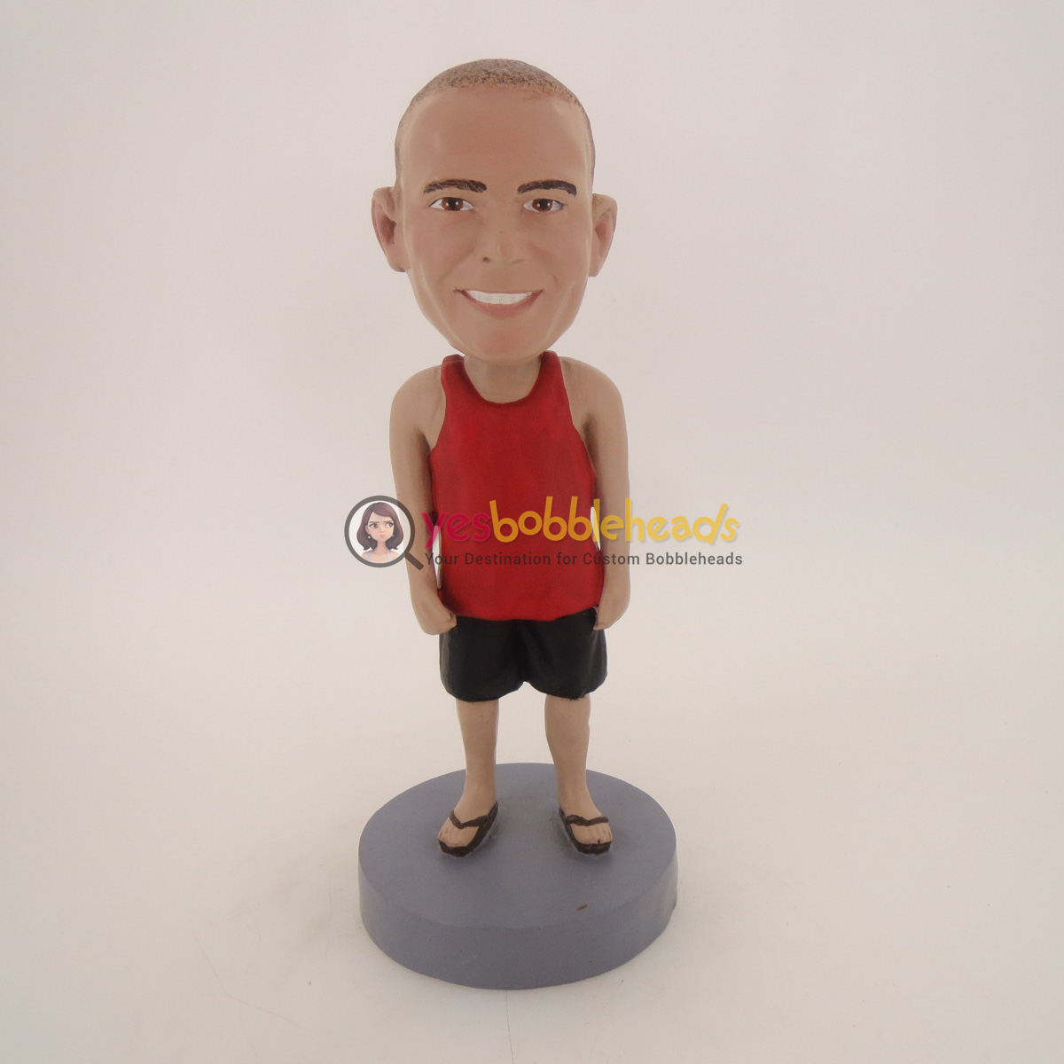 Picture of Custom Bobblehead Doll: Casual Man In Red Shirt