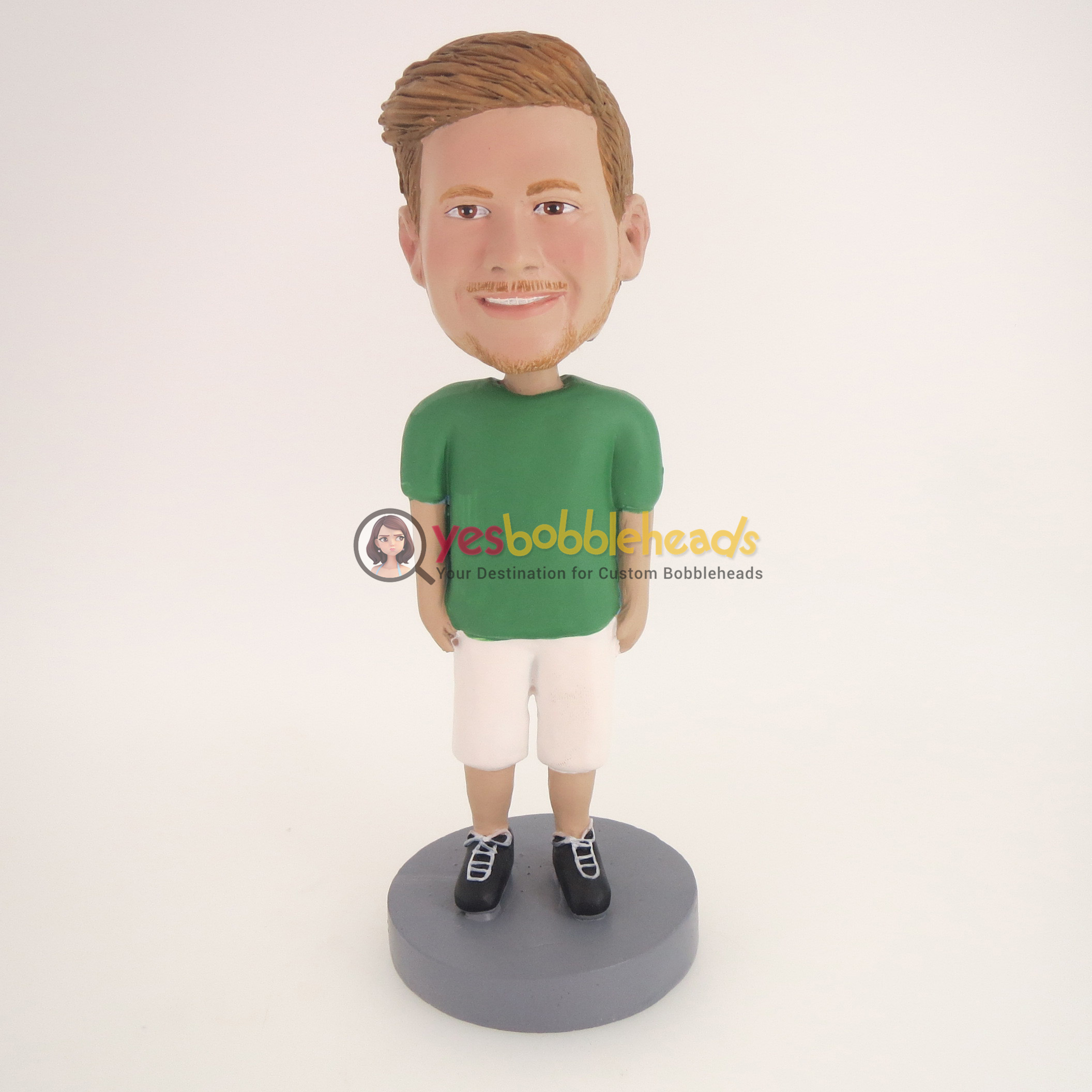 Picture of Custom Bobblehead Doll: Casual Man Ready To Go