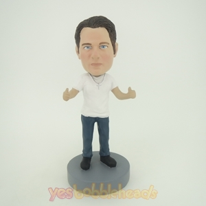 Picture of Custom Bobblehead Doll: Casual Man Ready To Hug