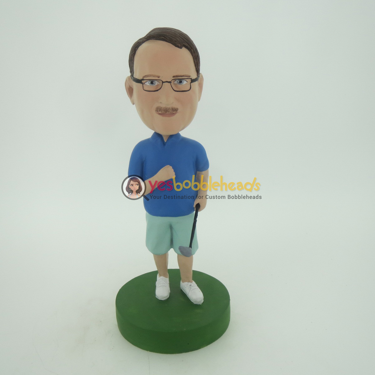 Picture of Custom Bobblehead Doll: Casual Man With Golf Club