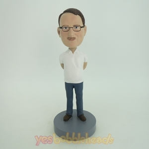 Picture of Custom Bobblehead Doll: Casual Man With Hands Behind