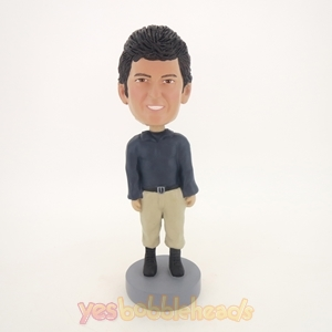 Picture of Custom Bobblehead Doll: Casual Man With Heavy Hair