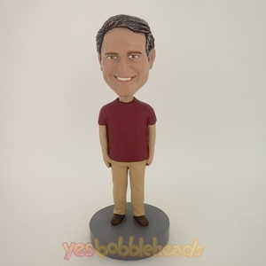 Picture of Custom Bobblehead Doll: Casual Man With Nice Smile