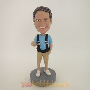 Picture of Custom Bobblehead Doll: Casual Man With Strap