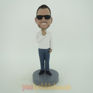 Picture of Custom Bobblehead Doll: Cool Man With Sunglass