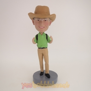 Picture of Custom Bobblehead Doll: Cowboy In Brown Hat
