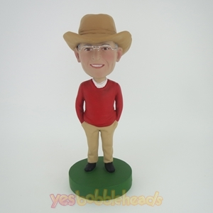 Picture of Custom Bobblehead Doll: Cowboy In Red TShirt