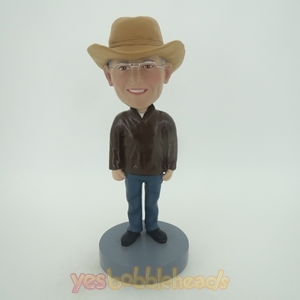 Picture of Custom Bobblehead Doll: Cowboy With Glass