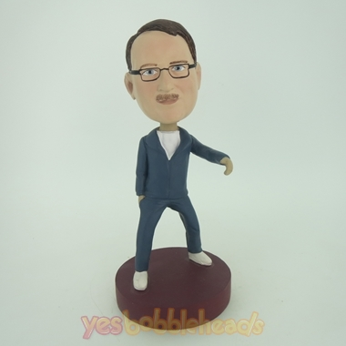 Picture of Custom Bobblehead Doll: Dancing Casual Man