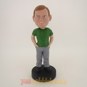 Picture of Custom Bobblehead Doll: Fat Boy Feeling Good