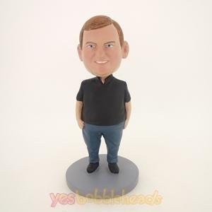 Picture of Custom Bobblehead Doll: Fat Boy In Black