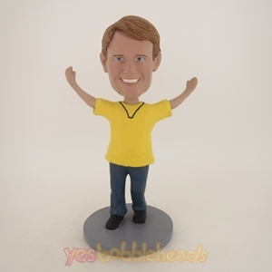 Picture of Custom Bobblehead Doll: Happy Man In Yellow