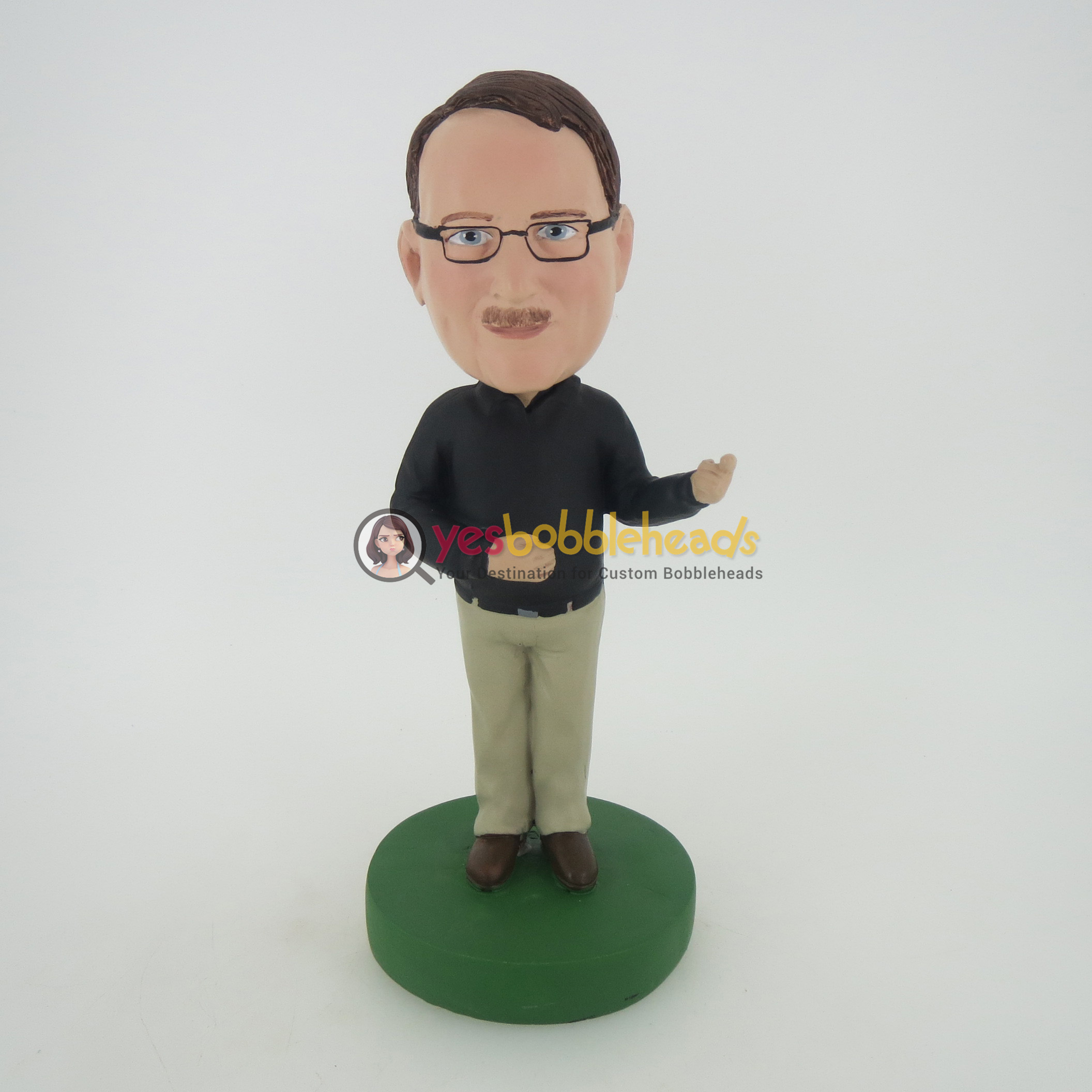 Picture of Custom Bobblehead Doll: Kind Man Welcoming You