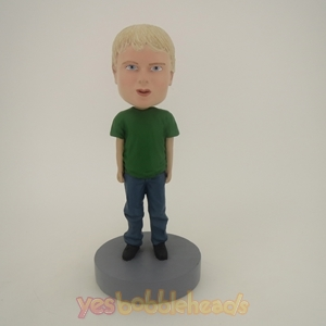 Picture of Custom Bobblehead Doll: Little Boy In Green