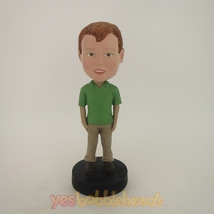 Picture of Custom Bobblehead Doll: Lovely Kid In Green