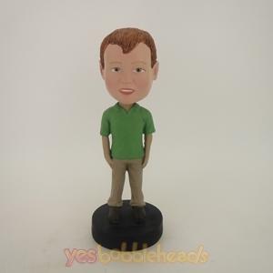 Picture of Custom Bobblehead Doll: Lovely Kid In Green