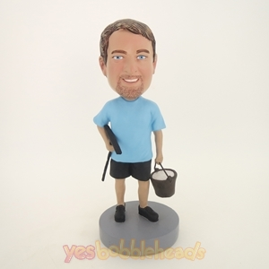 Picture of Custom Bobblehead Doll: Man Doing Earth Work