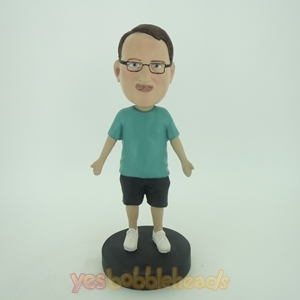 Picture of Custom Bobblehead Doll: Man Going Out For Sports