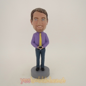 Picture of Custom Bobblehead Doll: Man Holding A Calculator