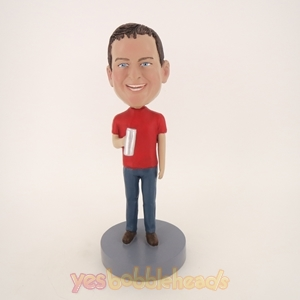 Picture of Custom Bobblehead Doll: Man Holding A Water Bottle