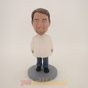 Picture of Custom Bobblehead Doll: Man In Bigger White Coat