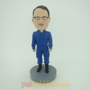 Picture of Custom Bobblehead Doll: Man In Blue Uniform