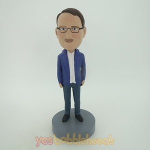 Picture of Custom Bobblehead Doll: Man In Casual Jacket And Jean