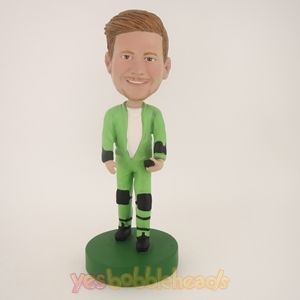 Picture of Custom Bobblehead Doll: Man In Cool Green Jacket