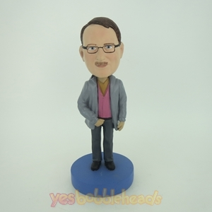 Picture of Custom Bobblehead Doll: Man In Gray Coat