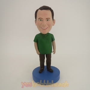 Picture of Custom Bobblehead Doll: Man In Green And Black