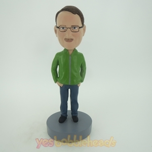 Picture of Custom Bobblehead Doll: Man In Green Coat