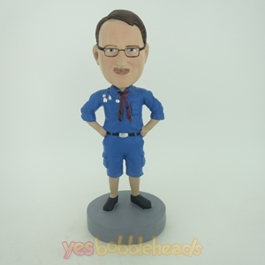 Picture of Custom Bobblehead Doll: Man In Pure Blue Jacket