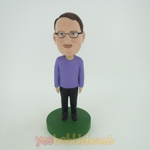 Picture of Custom Bobblehead Doll: Man In Purple And Black