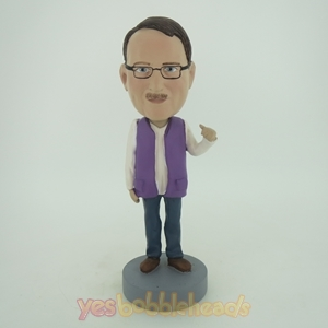 Picture of Custom Bobblehead Doll: Man In Purple Vest