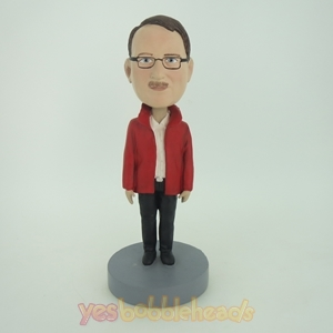 Picture of Custom Bobblehead Doll: Man In Red Jacket