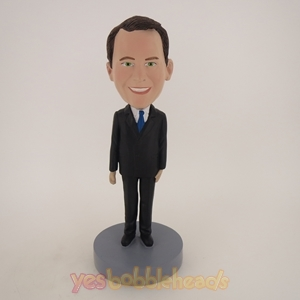 Picture of Custom Bobblehead Doll: Man In Suit Smiling