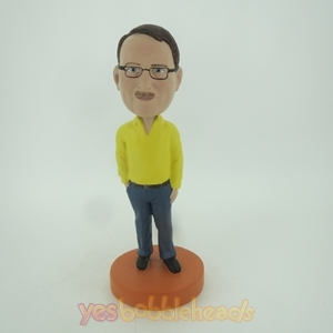 Picture of Custom Bobblehead Doll: Man In Yellow and Blue