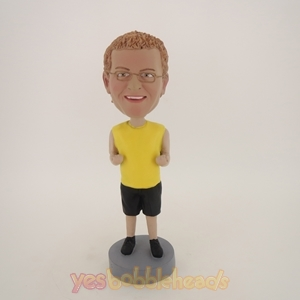 Picture of Custom Bobblehead Doll: Man In Yellow Ready To Fight