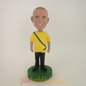 Picture of Custom Bobblehead Doll: Man In Yellow TShirt
