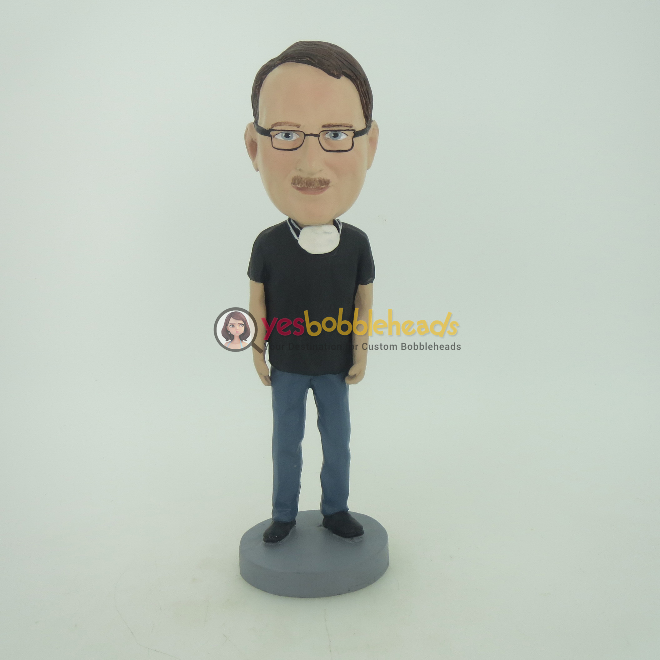Picture of Custom Bobblehead Doll: Man With A Mask On His Neck