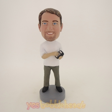 Picture of Custom Bobblehead Doll: Man With Calculator In Hand