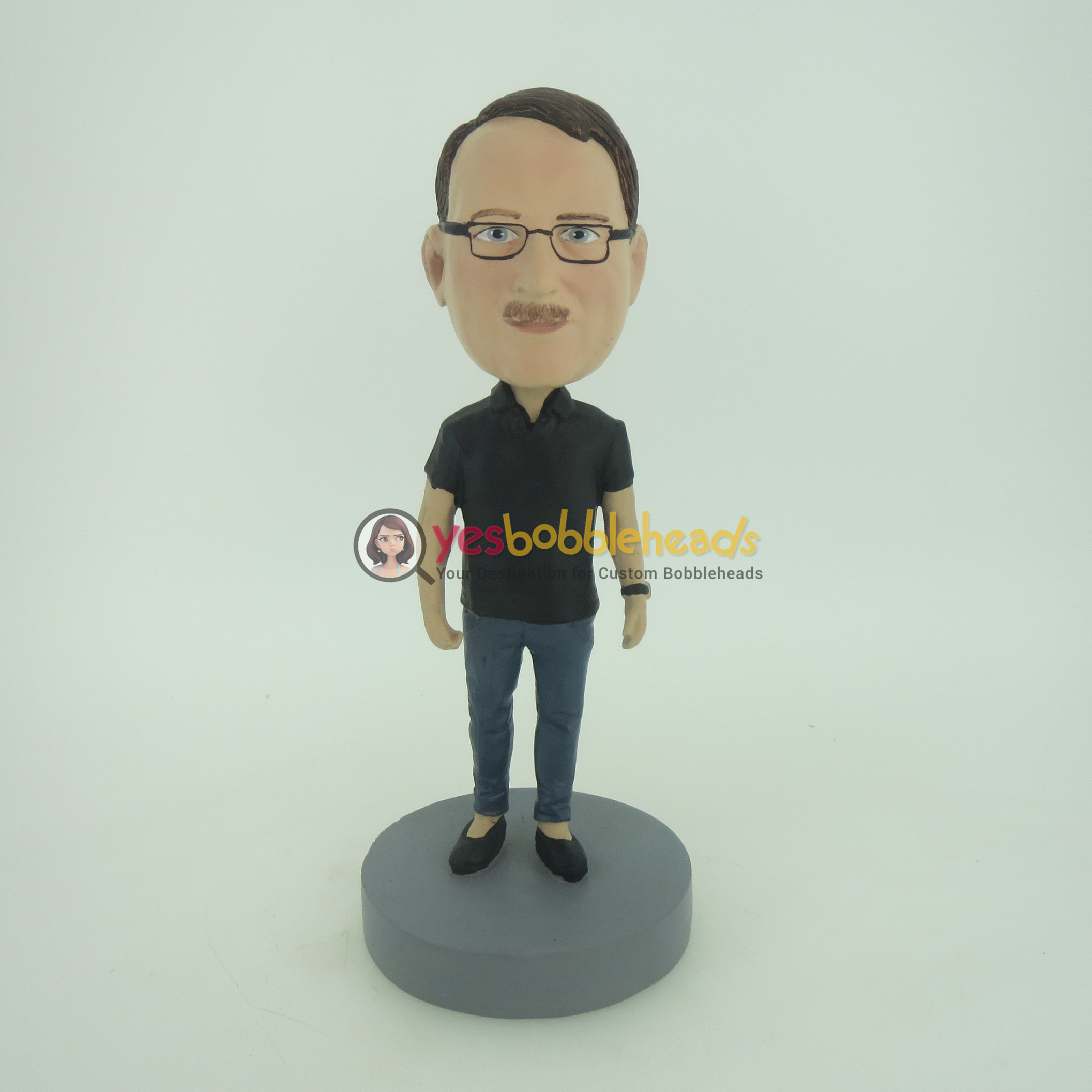 Picture of Custom Bobblehead Doll: Man With Casual TShirt