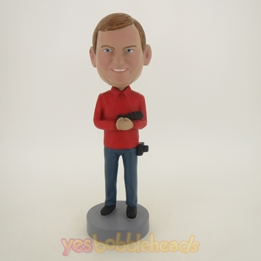 Picture of Custom Bobblehead Doll: Photography Lover Holding Camera