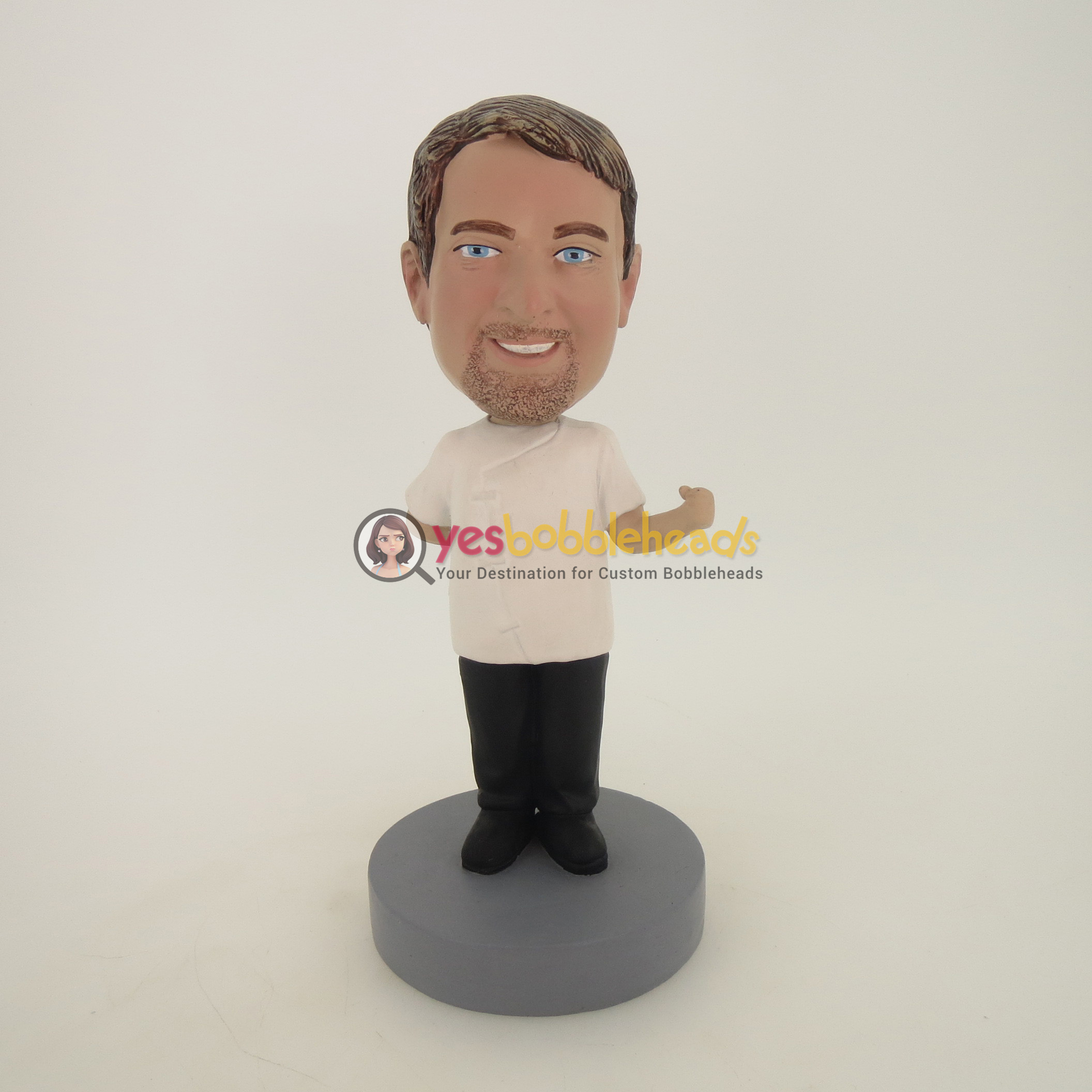Picture of Custom Bobblehead Doll: Man With One Hand On The Behind